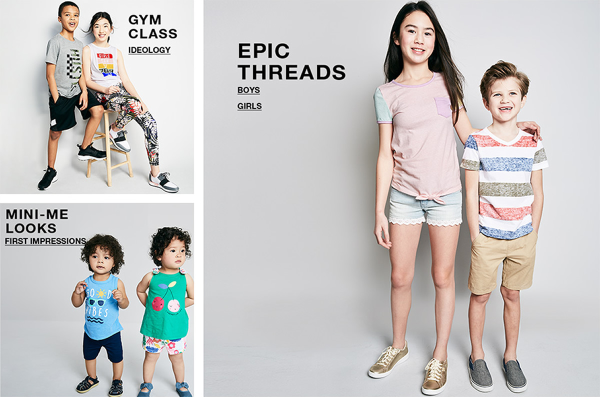 Gym Class, Ideology, Mini-Me, Looks, First Impressions, Epic Threads, Boys, Girls