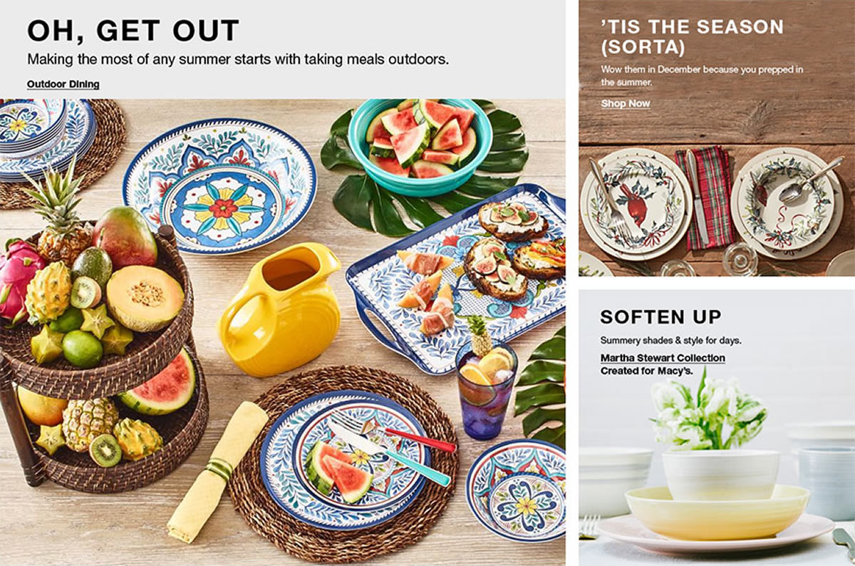 Oh Get Out, Outdoor Dining, 'Tis The Season (Sorta) Shop Now, Soften Up, Martha Stewart Collection