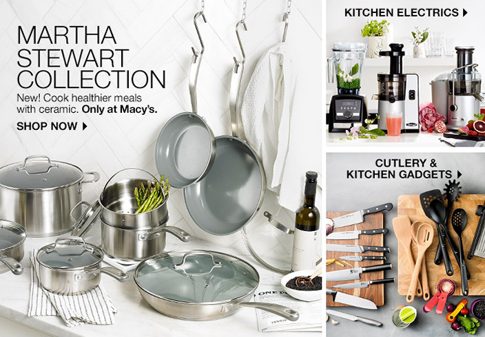 Martha Stewart Collection, New! Cook healthier meals with ceramic, Only at Macy's, Shop Now, Kitchen Electrics, Cutlery and Kitchen Gadgets