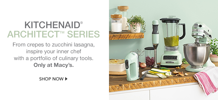 Kitchenaid Architect Series, From crepes to zucchini lasagna, inspire your inner chef with a portfolio of culinary tools, Only at Macy's, Shop now
