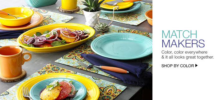 Match Makers, Color, color everywhere and it all looks great together, Shop by Color