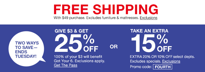 Free Shipping With 49 Purchase Excludes Furniture And Mattresses Exclusions Two Ways