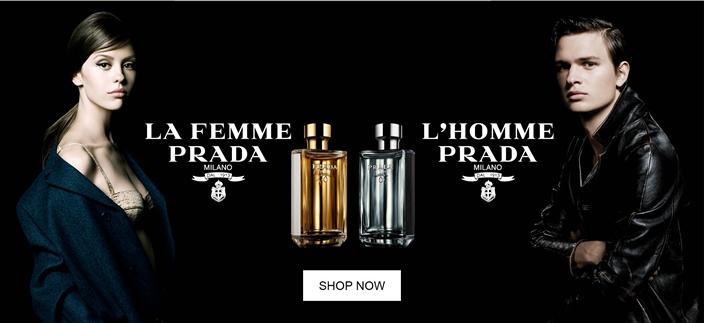 La Femme Prada, L'Homme Prada, Shop now