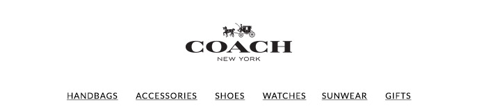 Coach New York, Handbags, Accessories, Shoes, Watches, Sunwear, Gifts