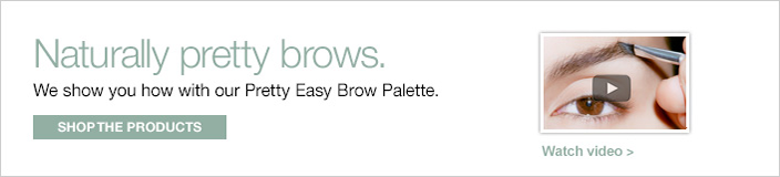 Naturally pretty brows, we show you how with our Pretty Easy Brow Palette, Shop the Products