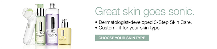 Great skin goes sonic, Dermatologist-developed 3-step Skin Care, Custom-fit for your skin type, Choose Your Skin Type
