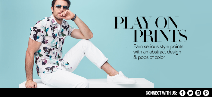 Play on Prints, Earn Serious style points with an abstract design and pops of color