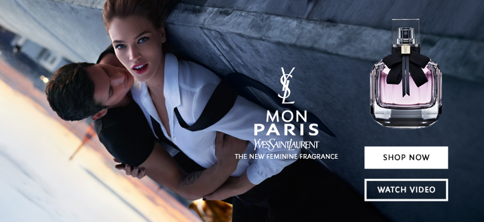 Mon Paris, Yves Saint Laurent, The New Feminine Fragrance, Shop Now, Watch Video
