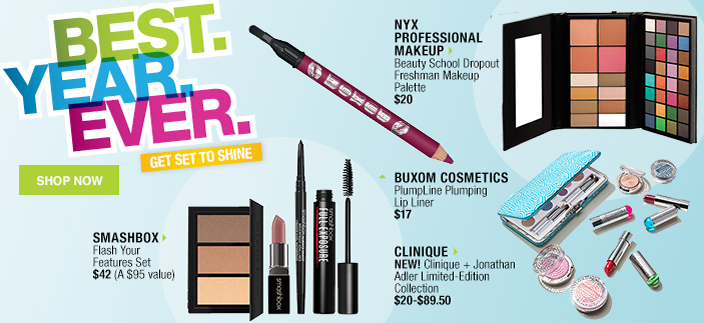 Best, Year, Ever, Get Set to Shine, Shop Now, Smashbox, Nyx Professional Makeup, Buxom Cosmetics, Clinique