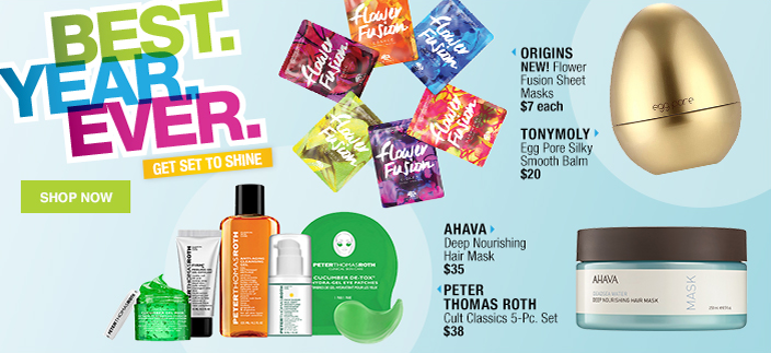 Best, Year, Ever, Get Set to Shine, Shop Now, Origins, Tonymoly, Ahava, Peter Thomas Roth