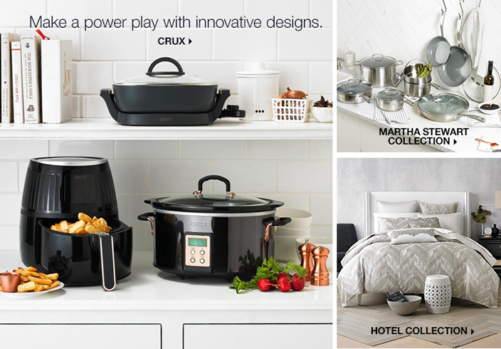 Make a power play with innovative designs, Crux, Martha Stewart, Collection, Hotel Collection