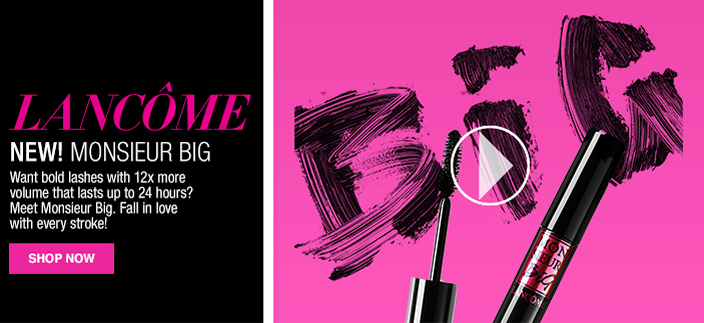 Lancome, New! Monsieur Big, Want bold lashes with 12x more volume that lasts up to 24 hours? meet Monsieur Big, Fall in love with every stroke! Shop Now