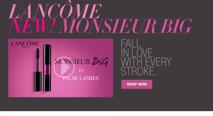 Lancome New! Monsieur Big, Fall in Love with Every Stroke, Shop now