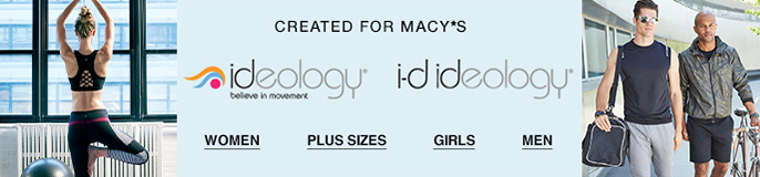 Created for Macy's, ideology believe in movement, i-d ideology, Women, Plus Sizes, Girls, Men
