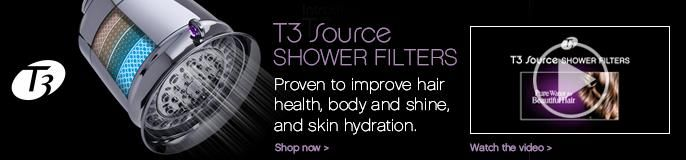 T3 Source SHOWER FILTERS Proven to improve hair health, body and shine, and skin hydration. Shop now.