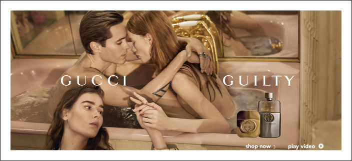 Gucci, Guilty, shop now, play video