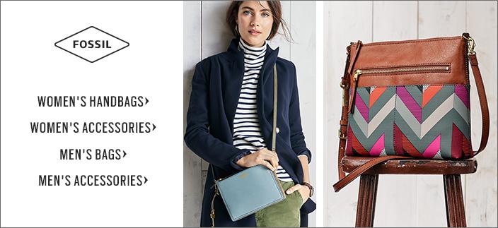 Fossil Women's Handbags, Women's Accessories, Men's Bags, Men's Accessories