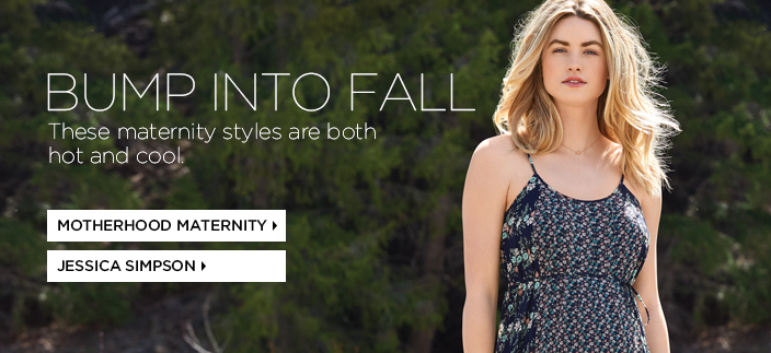 Bump Into Fall, These maternity styles are both hot and cool, Motherhood Maternity, Jessica Simpson