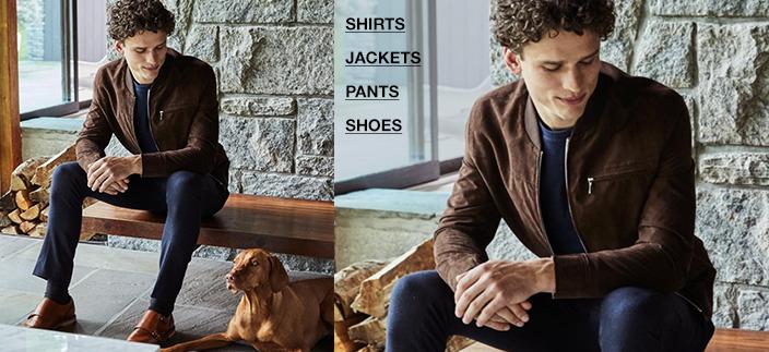 Shirts, Jackets, Pants, Shoes