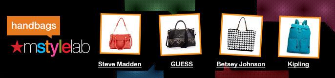 Handbags, mstylelab, Steve Madden, GUESS, Betsey Johnson, Kipling