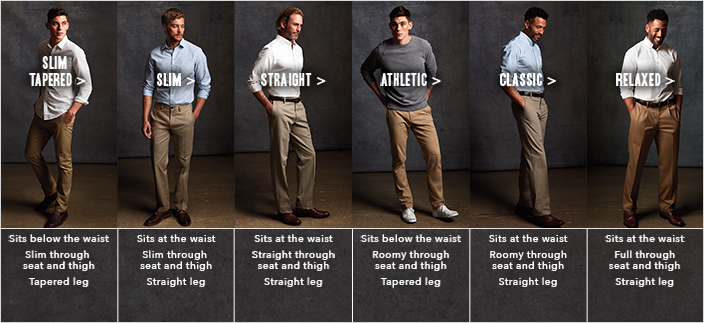 Slim Tapered , Slim, Straight, Athletic, Classic, Relaxed