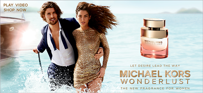 Let Desire Lead the way, Michael Kors, Wonderlust, the new Fragrance for Women, Shop now