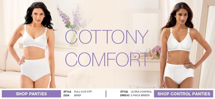 Cottony Comfort, Shop Panties, Shop Control Panties