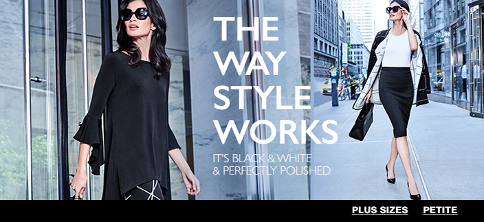 The Way Style Works, It's Black and White and Perfectly Polished, Plus Sizes, Petite