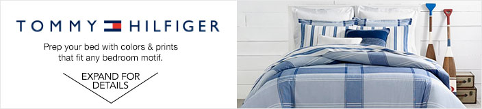 TOMMY HILFIGER prep your bed with colors and prints that fit any bedroom motif