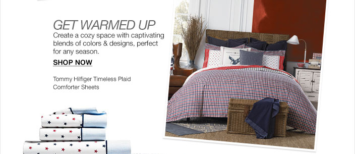 Get warmed up. Create a cozy space with captivating blends of colors and designs, perfect for any season. Tommy Hilfiger timeless plaid comforter sheets.