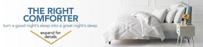 The Right Comforter to turn a good night's sleep into a great night's sleep