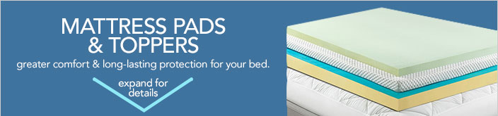 Mattress pads and toppers. Greater comfort and long-lasting protection for your bed.