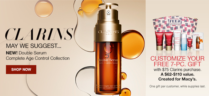 Clarins May we Suggest, New! Double Serum Complete Age Control Collection, Shop now