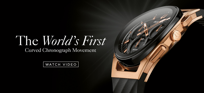 The World's First, Curved Chronograph Movement, Watch Video