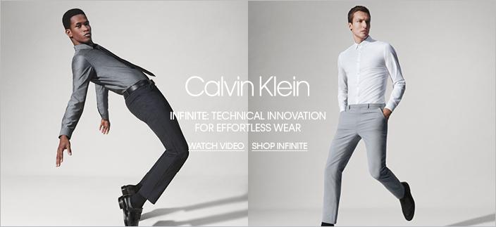Calvin Klein, Infinite: Technical Innovation for Effortless Wear, Watch Video, Shop Infinite