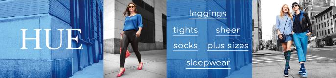 Hue, leggings, tights, sheer, socks, plus sizes, sleepwear