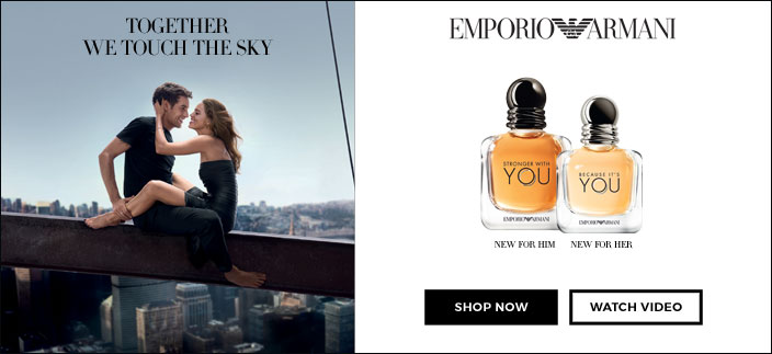 Together we Touch the Sky, Emporio Armani, Shop now, Watch Video