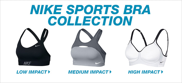 Nike Sports Bra Collection, Low Impact, Medium Impact, High Impact