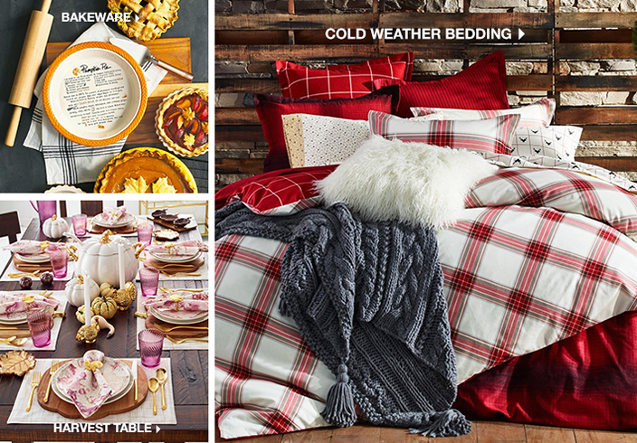Bakeware, Harvest Table, Cold Weather Bedding