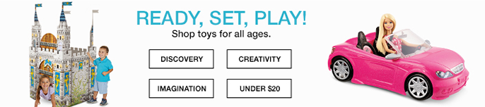 Ready, Set, Play! Shop toys for all ages, Discovery, Vreativity, Imagination, Under $20