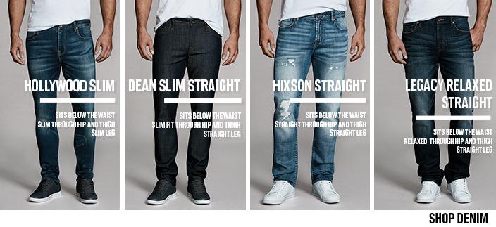 Hollywood Slim, Dean Slim Straight, Hixson Straight, Legacy Relaxed Straight, Shop Denim