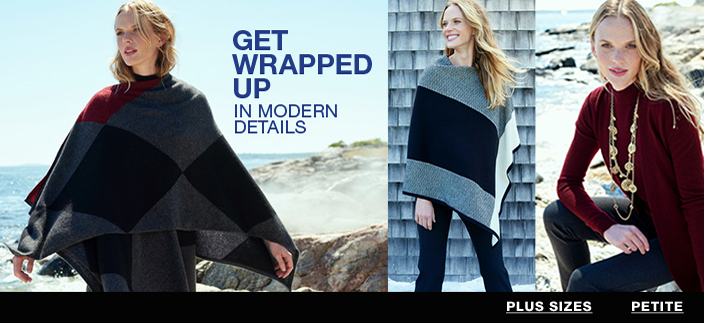 Get Wrapped Up in Modern Details, Plus Sizes, Petite