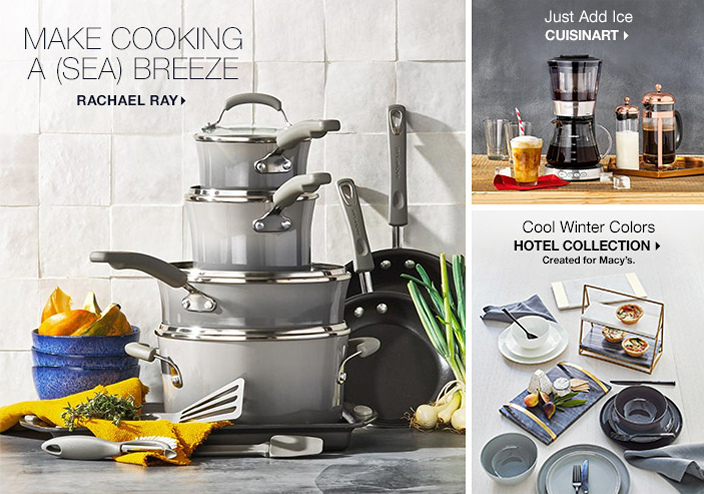 Make Cooking a Sea Breeze, Rachael Ray, Just Add Ice Cuisinart, Cool Winter Colors, Hotel Collection, Created for Macy's