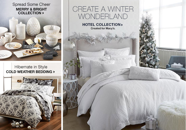 Spread Some Cheer, Merry and Bright Collection, Hibernate is Style Cold Weather Bedding, Create a Winter Wonderland, Hotel Collection Created for Macy's