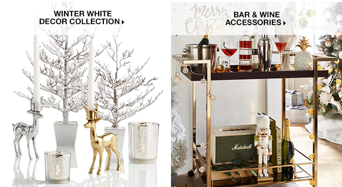 Winter White Décor Collection, Bar and Wine Accessories