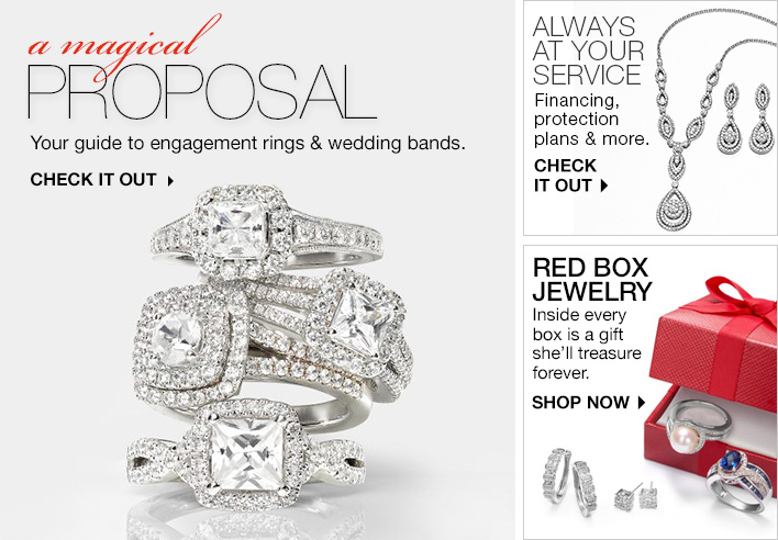 A Magical Proposal, Your guide to engagement rings and wedding bands, Check it out, Always at Your Service, Check it Out, Red Box Jewelry