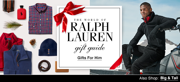 The World of Ralph Lauren, gift guide, Gifts for Him, Also Shop: