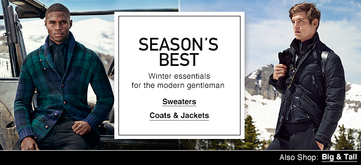 Season\u0026#39;s Best, Winter essentials for the modern gentleman, Sweaters, Coats and Jackets,
