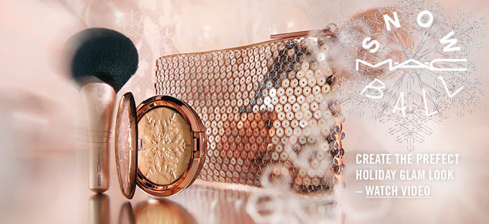 MAC Snow Ball, Create teh Perfect Holiday Glam Look - Watch Video