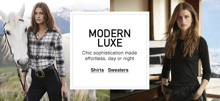 Modern Luxe, Chic sophistication made effortless, day or night, Shirts, Sweaters